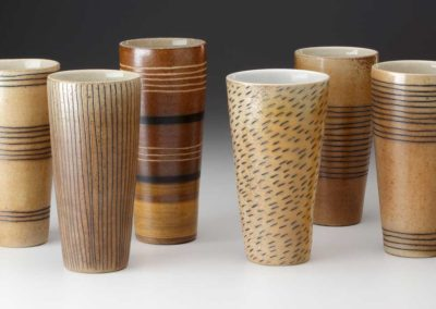 Tall wood fired tumblers